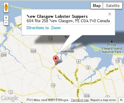 Map New Glasgow Lobster Suppers