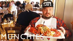 Matty Matheson enjoying a 5lb lobster