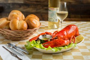 Lobster and rolls at New Glasgow Lobster Suppers